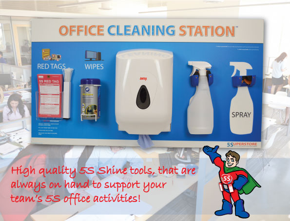 5s Office Cleaning Station Sku 11147 The Lean Centre