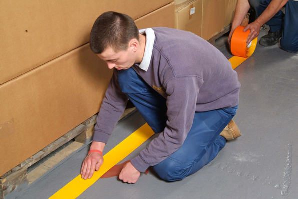 Tape installing by hand