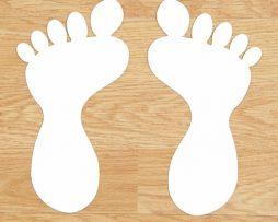 Foot Steps Floor Stickers