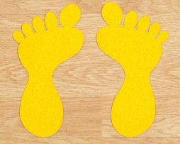 Foot Steps for factory floor