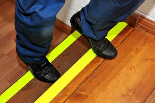 Anti Slip Floor Marking Tape - Yellow Fluorescent