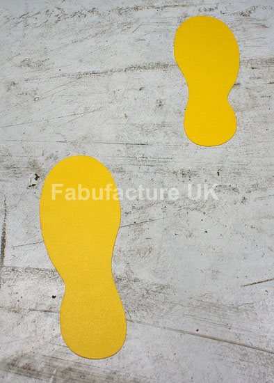 Floor Marking Floor Sticker Footprints Qty 20 Sku 11679
