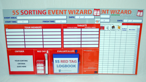 5s sorting event wizard event boards sku 9508 the lean for 5s office design