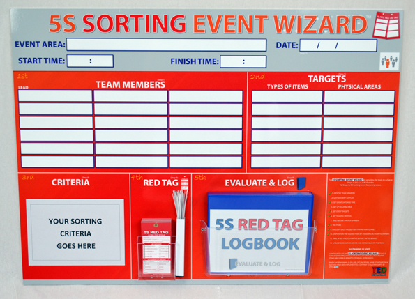 5s Sorting Event Wizard Event Boards Sku 9508 The Lean