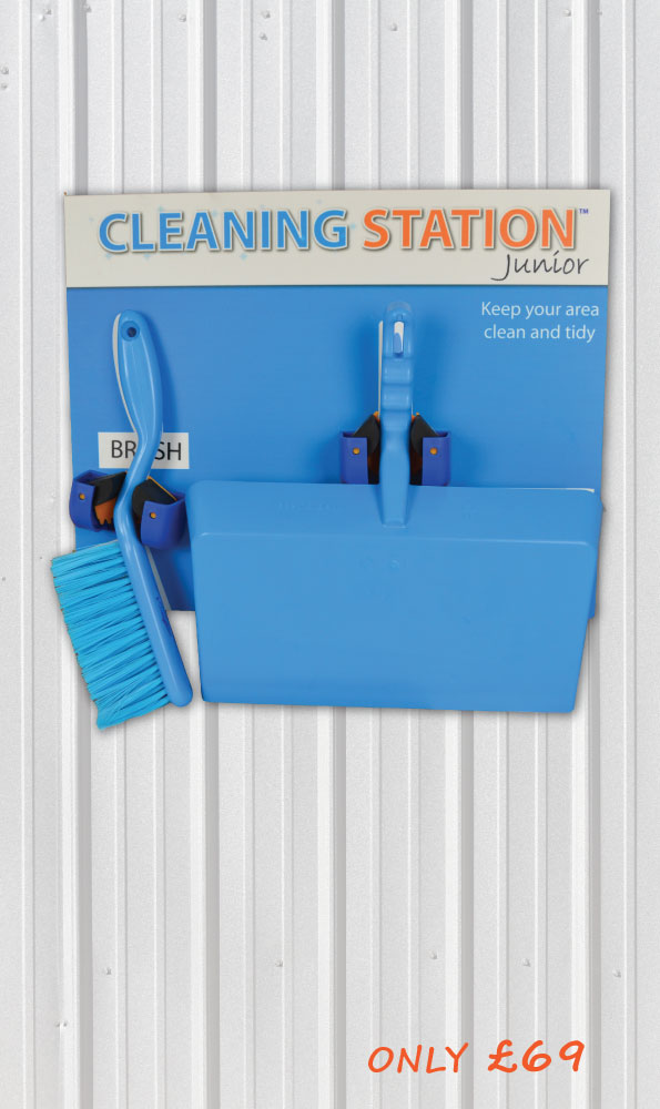 Wall Mounted Cleaning Station Shadow Board Junior 2