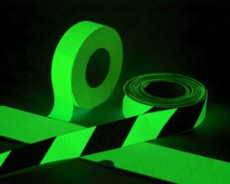 Glow in the Dark Photoluminescent Egress Hazard Tape