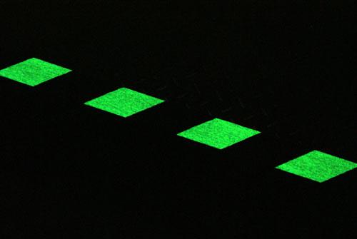 Glow in the Dark Photoluminescent Egress Hazard Tape