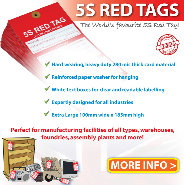 5S Red Labels