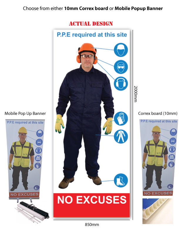 Life Size Personal Protective Equipment Signs Fabrication