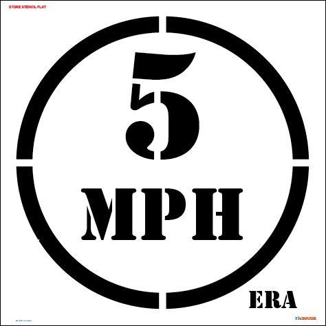 5 MPH Slow Floor Marking Stencil